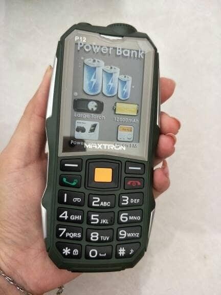 harga Handphone / hp maxtron p12 / c15 [gsm-gsm / powerbank 12.000 mah] Tokopedia.com