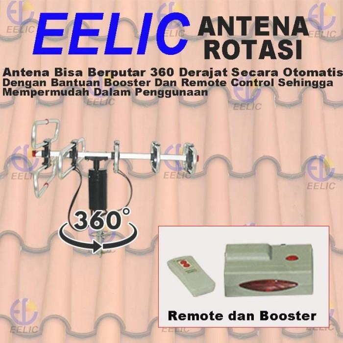 harga Eelic atv-q1080 remote controlled rotatable tv antenna televisi digita Tokopedia.com
