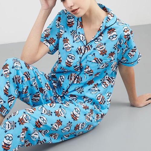 harga Baju tidur cewek baju piyama wanita panjang kartun minion biru clp028 Tokopedia.com