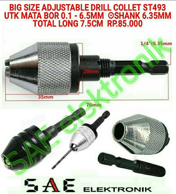 harga Big size adjustable collet chuck drill sambungan bor 0.2-6.5mm sm493 Tokopedia.com