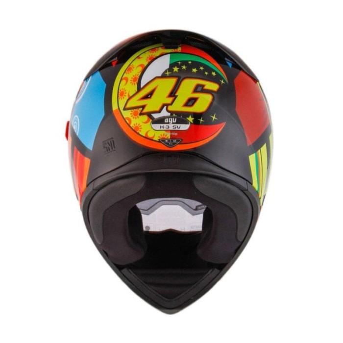 AGV K3 SV Top Element Helm Full Face - Orange Yellow 3