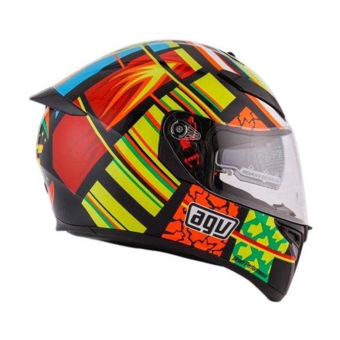 AGV K3 SV Top Element Helm Full Face - Orange Yellow 1