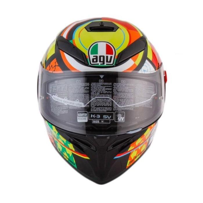 AGV K3 SV Top Element Helm Full Face - Orange Yellow 2