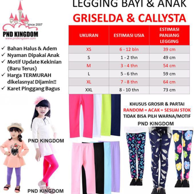 Jual Celana Legging Anak Callysta Motif Eceran Ukuran S Kota Tangerang Zeevandrashop Tokopedia