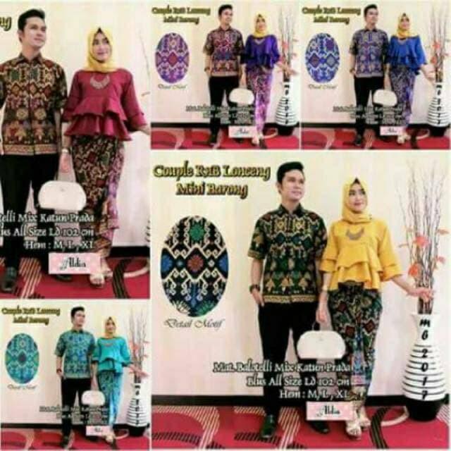Promo Terbaru Batik Couple Rnb lonceng mini barong