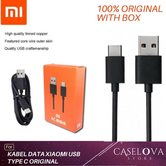 Kabel Data Charger Xiaomi Mi4c Mi A1 Mi 5 Mi5 USB Type C Original 100% - Hitam
