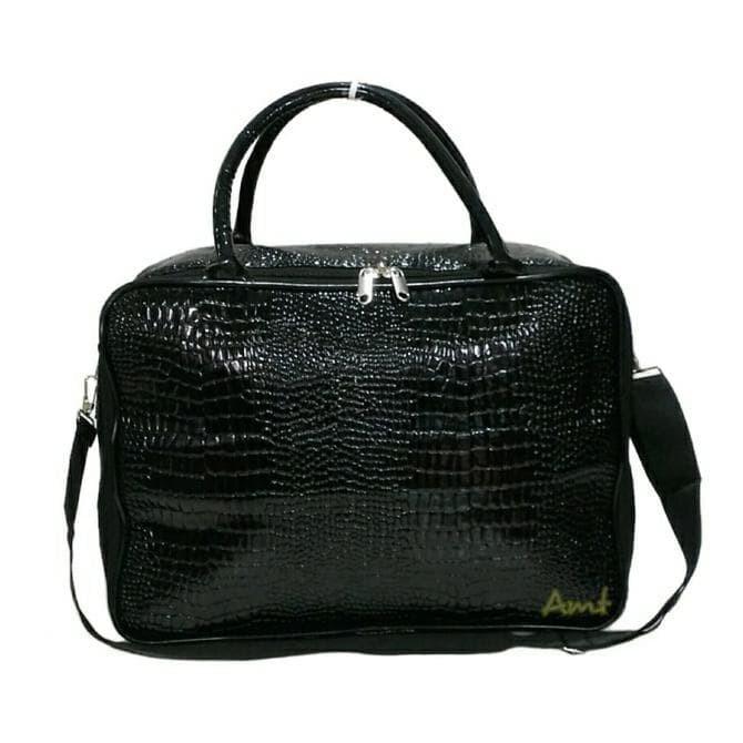 harga Jual travel bag fashion tas koper selempang tas mudik kulit buaya Tokopedia.com