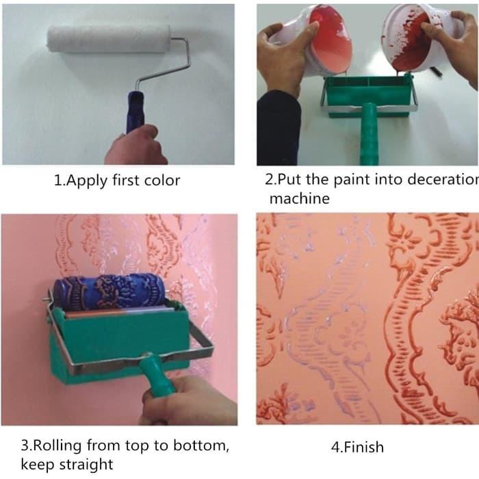harga 071y wallpaper paint roller painting roll motif tanpa aplikator Tokopedia.com