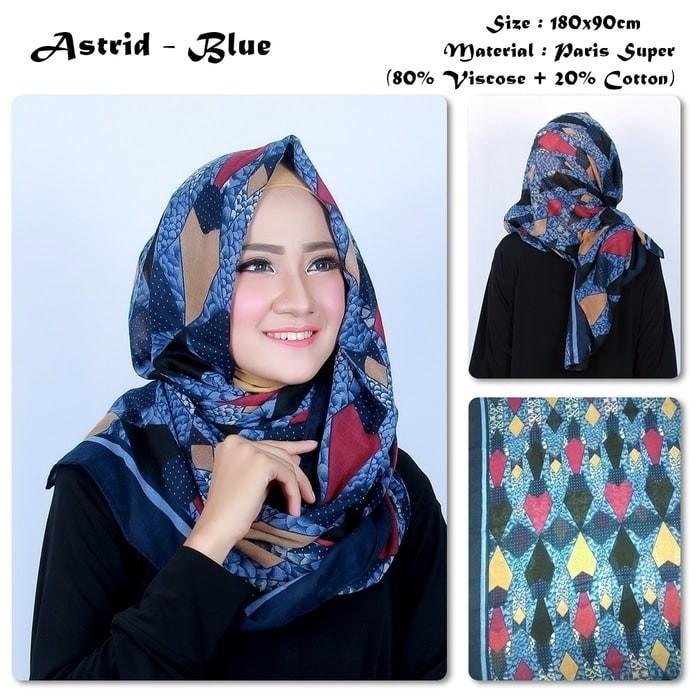 Jual Hijab Pashmina Astrid Motif Geometric Tribal Bahan Paris Super