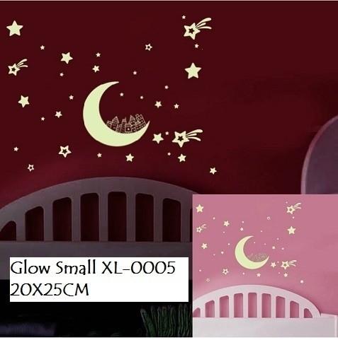 jual wallsticker wall sticker glow xl0005 bintang bintang bulan