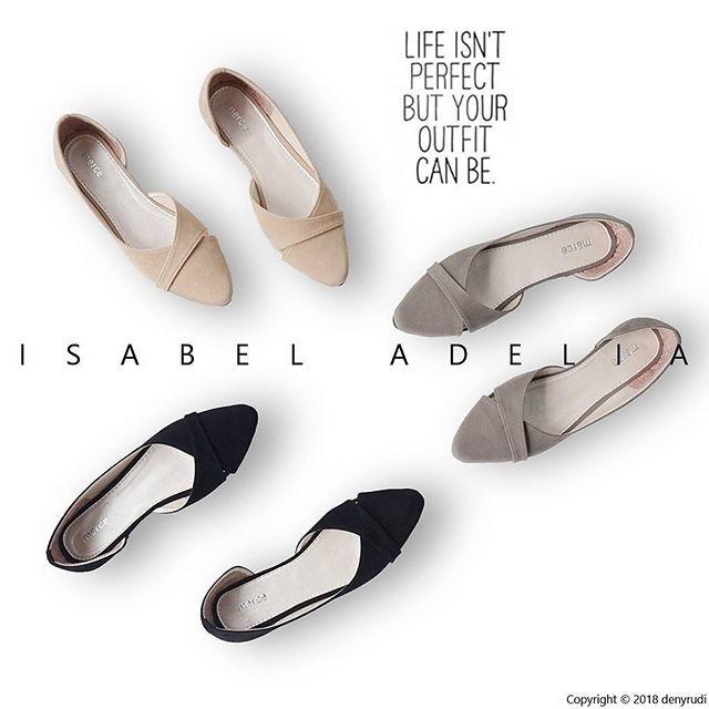 Isabel milea sepatu balet wanita casual flat shoes simple  - beige 40
