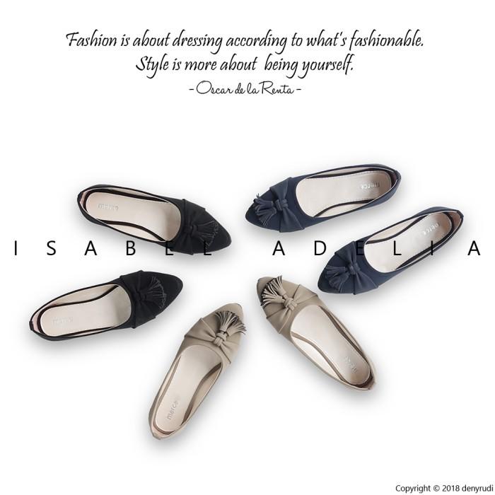 Isabel april sepatu balet wanita casual flat shoes simple - hitam 39