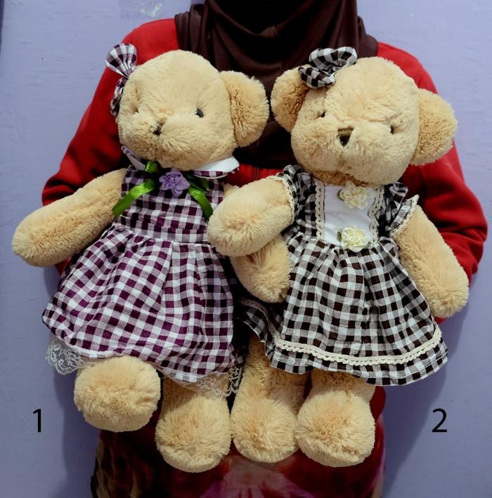 harga Boneka teddy bear dress handmade indonesia bahan lembut Tokopedia.com