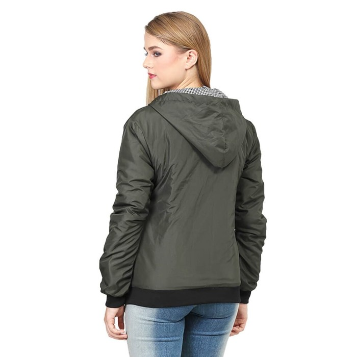 Jual Jaket Parka Korea Wanita Jacket Inficlo SRO615 Olive - dralapak ... dd418bb2aa
