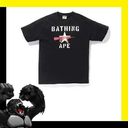 6f34dc31 Jual Bape x Undefended Stencil Print S/L Tee Black - Badass Monkey ...