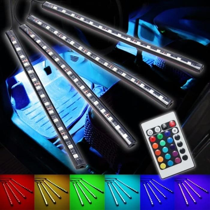 harga Lampu led kolong dashboard kabin interior mobil multiwarna + remote Tokopedia.com