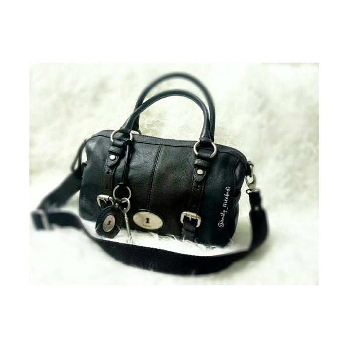 harga Fossil maddox satchel black l complete set bundling vrv multifunction Tokopedia.com