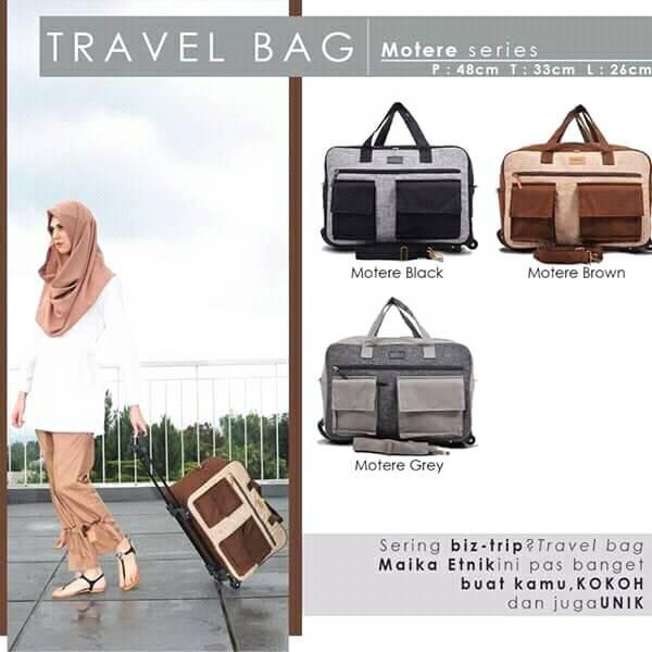 Travel Bag Roda Trolley Praktis Bepergian Maika Etnik Divineshop99
