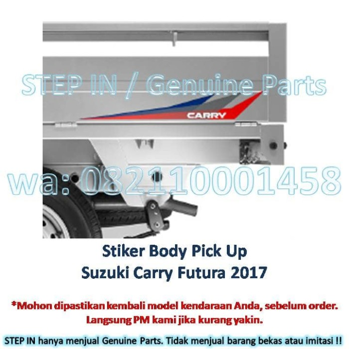 harga Stiker body sisi samping bak suzuki carry pick up futura 2017 sticker Tokopedia.com