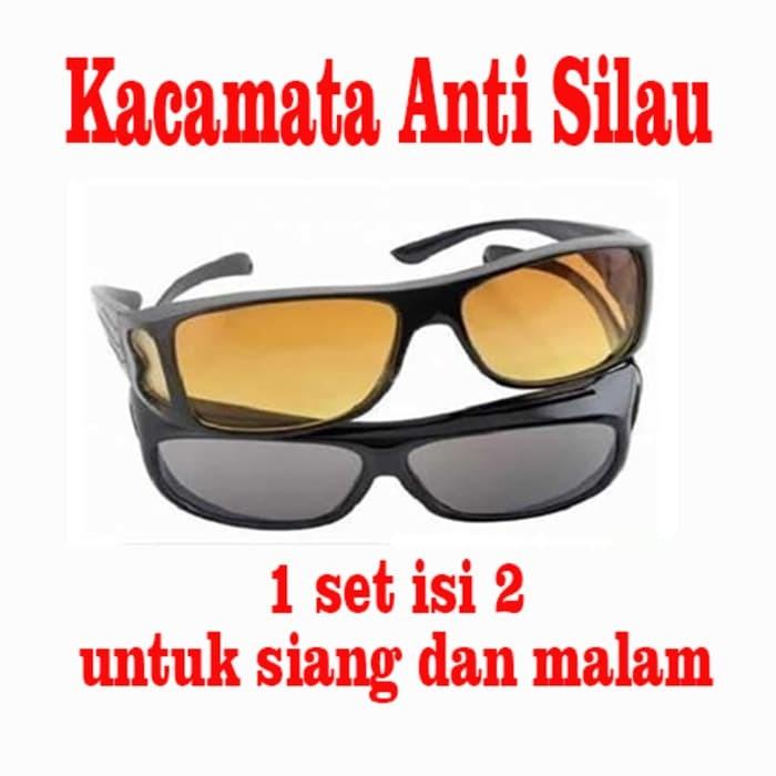 Jual Kacamata Anti Silau 1 Set Isi 2 Untuk Siang Dan Malam  46da7a2209