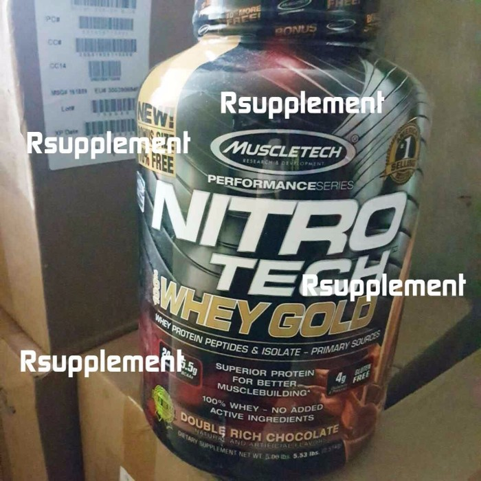 harga Muscletech nitrotech whey gold 5.5lbs on gold standard bukan iso 100 Tokopedia.com