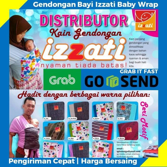 Jual Gendongan Bayi Izzati Murah Berkualitas Premium Hitam Kaos