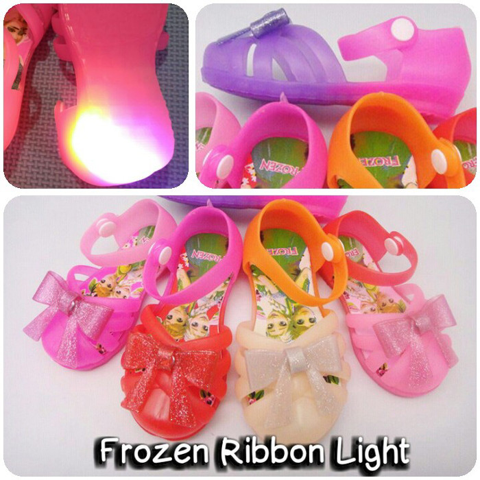 harga Sepatu anak baby bayi perempuan cewek karakter frozen ribbon light Tokopedia.com