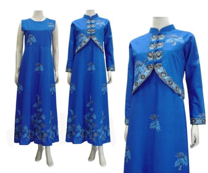 Jual Model Baju Gamis Batik Kombinasi Terbaru Busana Muslim Sa 515 Kab Boyolali Baju Batik Dinasti Tokopedia