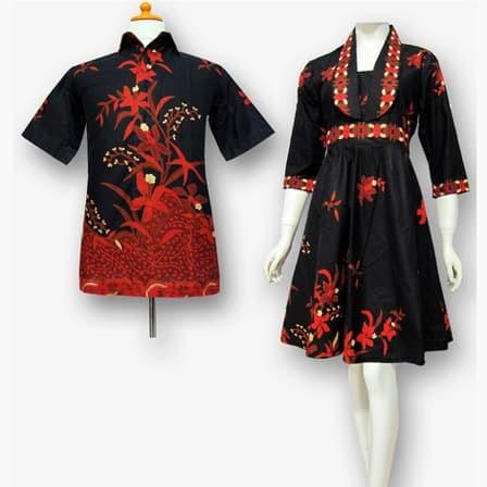 Jual Model Baju Dress Batik Couple Terbaru Batik Sarimbit Keluarga