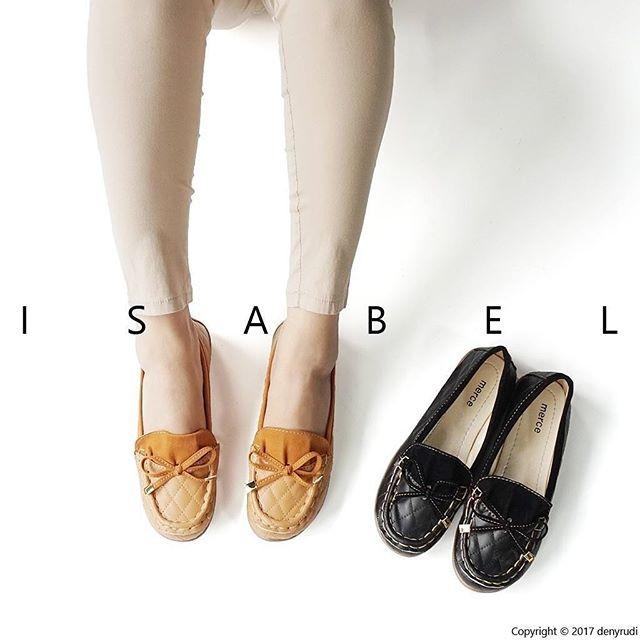 Isabel diana sepatu balet wanita flat shoes loafers hitam coklat - hitam 38