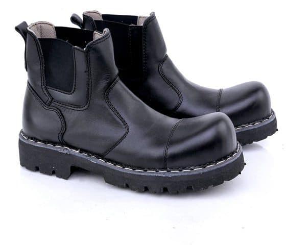 KULIT ASLI Sepatu Boots Pria Outdoor Biker Moge Touring Gco Boot Hitam 3b3876c026
