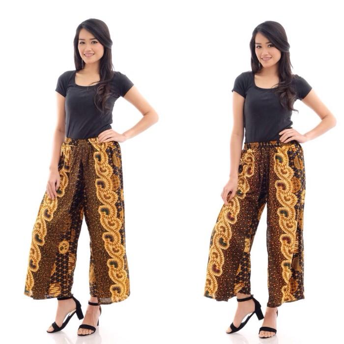 Jual CBK034 Celana Kulot Batik Wanita Kekinian Panjang Murah Bawahan ... c8fc060940