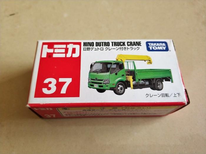 harga Tomica / takara tomy, no. 37, hino dutro truck crane green Tokopedia.com