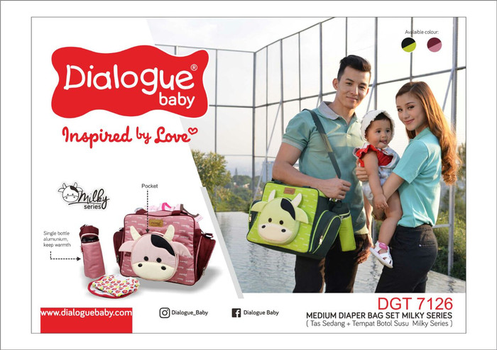 Dialogue baby tas medium milky series dgt7126