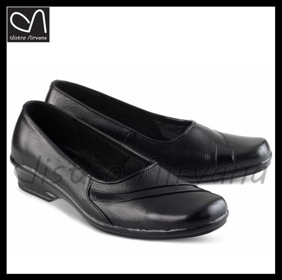 Jual sepatu wanita pantofel kulit resmi kerja formal heels hitam ... e746d0ee9c