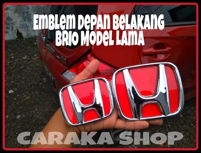 Foto Produk Emblem Honda Depan Belakang BRIO Lama Pengganti Lambang H Red Chrom dari Caraka Shop
