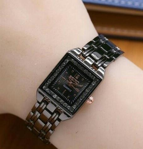 Jual jam tangan seiko kotak wanita watch elegan pesta murah branded ... 5a6c831bb3