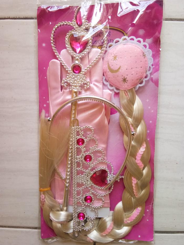 harga Aksesoris cosplay mahkota pink rambut sarung tangan tongkat peri Tokopedia.com