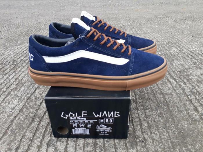Jual Free Bonus !!! Sepatu Murah Vans Old Skool Golfwang Gum BNIB China DT  - Navy 3160b6c96