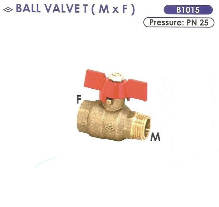 harga Ball valve t (m x f) size 1/2m x 1/2f - sailing b1015 Tokopedia.com