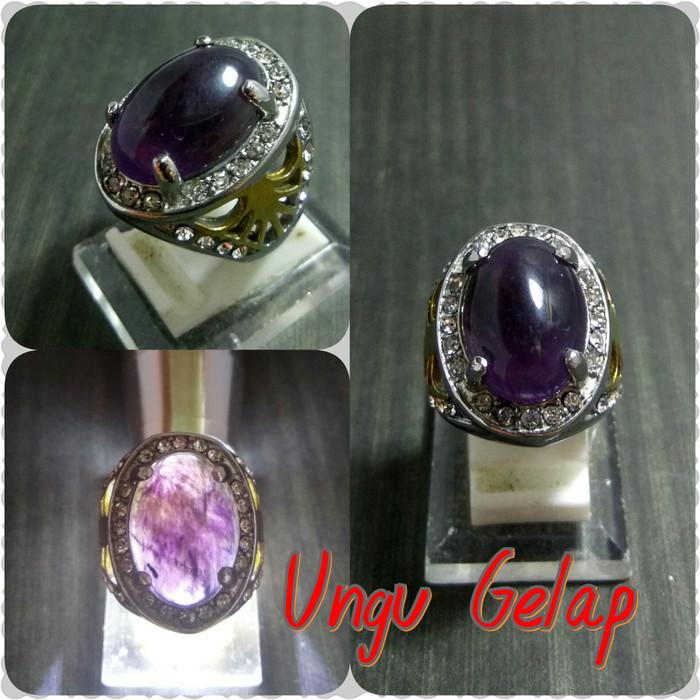 harga Batu cincin natural kecubung ungu terong promo ! Tokopedia.com