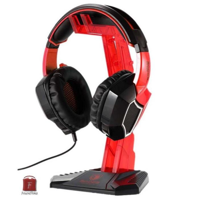 harga Sades universal gaming headphone hanger merah Tokopedia.com