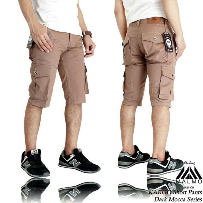 Celana Cargo Pendek Style Trendy - Pria (Impresif/Malmo) - Mocca, 28