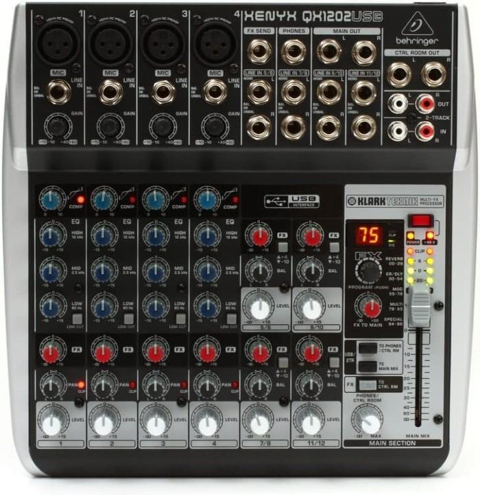 harga Mixer behringer qx1202usb ( qx 1202 usb ) with soundcard for recording Tokopedia.com