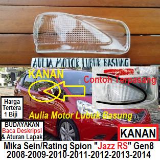 Foto Produk mika lampu sen sein rating spion honda jazz rs gen8 2008 sd 2014 kanan dari Aulia Motor Lubuk Basung