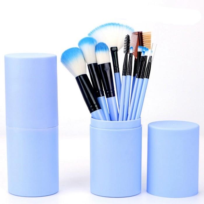 harga Kuas makeup set 12 pcs 12pcs make up brush tabung hankousi nankousi q1 Tokopedia.com