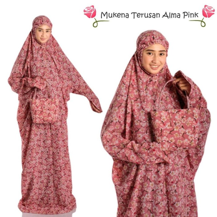 harga Pusat grosir mukena bali terusan alma pink Tokopedia.com
