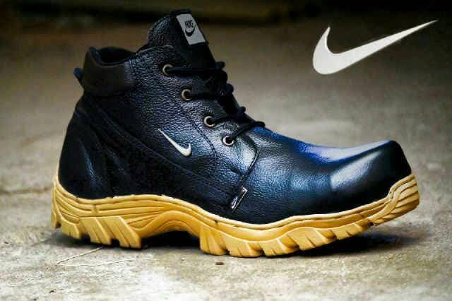 harga Sepatu boots pria nike safety kulit asli Tokopedia.com