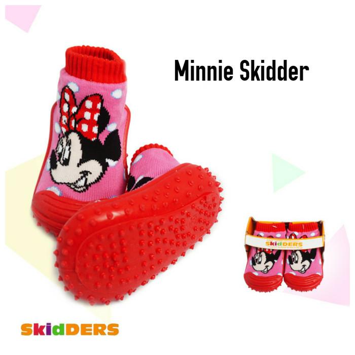 harga Ak skidder anak motif minnie /sepatu kaos kaki bayi prewalker skidders Tokopedia.com