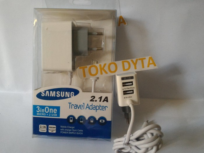OEM Travel Charger 3 Output 2.1A Micro USB, Samsung,Xiaomi,Oppo,